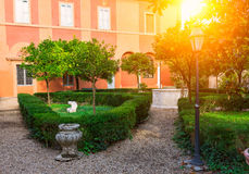 Park Villa Borghese in Rome Royalty Free Stock Photo