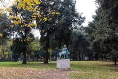 Park of villa Borghese in Rome, Italy Royalty Free Stock Images