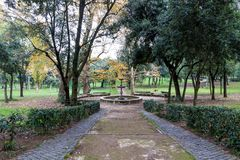 Park of villa Borghese in Rome, Italy Stock Images