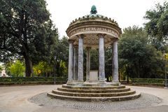 Park of villa Borghese in Rome, Italy Royalty Free Stock Photo