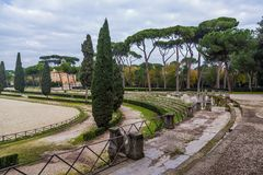 Park of villa Borghese in Rome, Italy Stock Photography