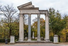 Park of villa Borghese in Rome, Italy Royalty Free Stock Photography