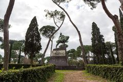 Park of villa Borghese in Rome, Italy Royalty Free Stock Image