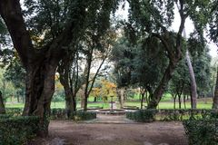 Park of villa Borghese in Rome, Italy Stock Photos