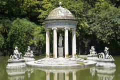 Park of Villa Pallavicini in Genoa Royalty Free Stock Photo