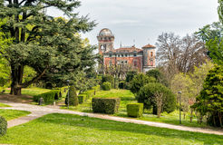 The park at Villa Toeplitz in Varese, Italy. Villa Toeplitz is on a hill east of Sant Ambrogio of Varese, Italy Royalty Free Stock Photos