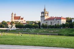 Park in the Vilnius. Park at the summer in the Vilnius city, Lithuania stock photography