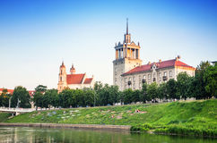 Park in the Vilnius. Park at the summer in the Vilnius city, Lithuania stock photos