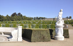 Park Vineyard and Statue from Sanssouci in Potsdam,Germany Royalty Free Stock Photos