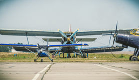 Park of vintage aircrafts Royalty Free Stock Image