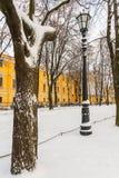 Park vintage lantern trees St.Petersburg Royalty Free Stock Photography