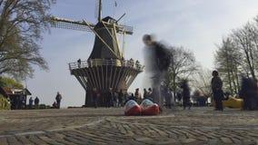 Park von Blumen in Holland Keukenhof mit TimeLapse stock video