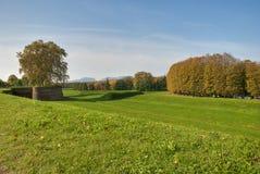 Park von Lucca, Toskana Stockfotografie