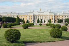 Park von Peterhof, St. Petersburg, Russland Stockbilder