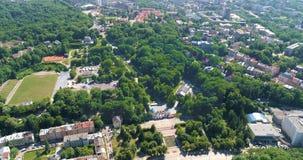 Park von Vogelperspektive 20 Kultur Lembergs Ukraine 08 2018 stock footage
