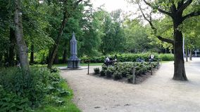 Park. Vondelpark in Amsterdam, Netherlands Royalty Free Stock Photo