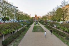 Park voor Engelenvijver in Berlijn, Duitsland stock afbeelding