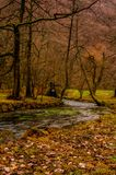 Park Vrelo Bosne. River Bosna flowing through the park Vrelo Bosne in Bosnia and Herzegovina royalty free stock photography