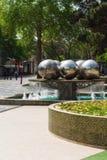 Park w Baku mieście fontanna Zdjęcia Stock