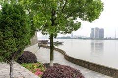 park w Changde poezi ścianie zdjęcia stock