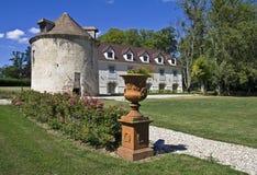 Park w Francuza starym kasztelu. Zdjęcie Royalty Free