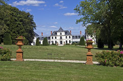 Park w Francuza starym kasztelu. obrazy royalty free