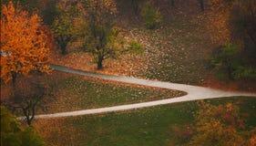 Park w jesień Obrazy Royalty Free