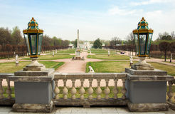 Park w Kuskovo, nieruchomość Sheremetev rodzina Zdjęcia Royalty Free