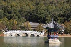 Park w miasteczku Lijang Chiny Obrazy Royalty Free