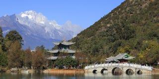 Park w miasteczku Lijang Chiny Zdjęcia Stock