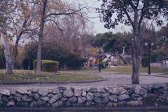 Park w nea krini, jesień Grecja Obrazy Stock