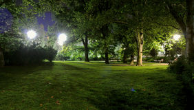 Park w Novi Sad nocą Obraz Stock