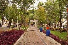 Park w obszarze zamieszkałym Taman Slamet po drugie Zdjęcia Stock