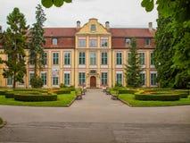 Park w Oliwa pałac Opatow, Polska Zdjęcia Stock