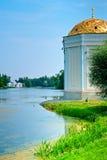 Park w przedmieściach St. Petersburg miasto Pushkin zdjęcia stock
