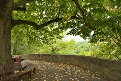 Park w Rothenburg, Bavaria, Niemcy obrazy stock