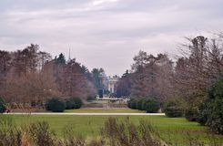 Park w zimie w Mediolan Obrazy Stock