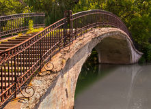 Park Walk Bridge Stock Images