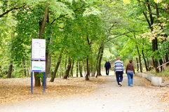 Park walking Stock Photo