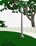 Park Walkway. Is hand drawn original artwork. The vector file is in AI-EPS8 format Royalty Free Stock Image