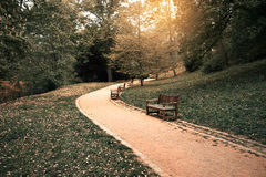Park walkway Royalty Free Stock Photography