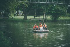 The paddling boat Royalty Free Stock Photo