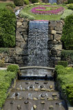 Park Waterfall. A Waterfall at a Landscaped office park stock photo