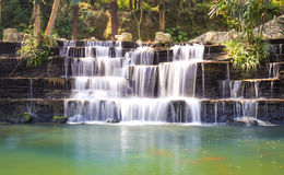 The park Waterfall Royalty Free Stock Image