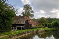 Park waterMill Stockfotos