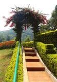 Park way and arch. At kateri park near ooty, tamilnadu, india Stock Photo
