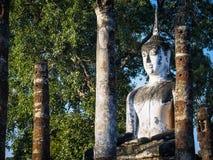 Park-Welterbe Thailand Art Architecture Asia Travel Buddha-Statue Sukhothai historisches lizenzfreie stockfotos