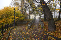Park in Wieliczka town. Poland Stock Photography