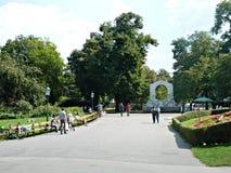 Park in Wien, Österreich Stockbild
