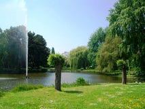 Park Wilhelminaplantsoen in Hoorn, Holland, Nederland royalty-vrije stock afbeeldingen